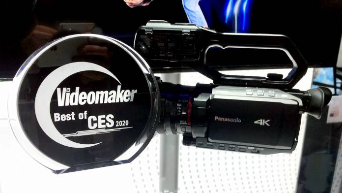 Panasonic HC-X2000 camcorder with Best of CES 2020 award