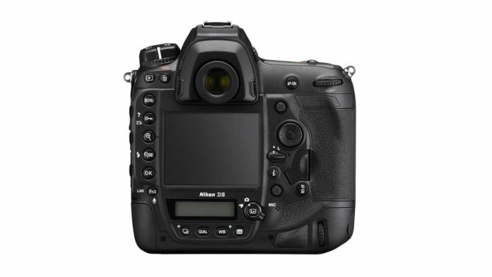 Back view of the Nikon D6