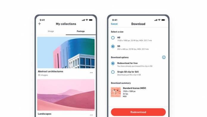 Shutterstock mobile