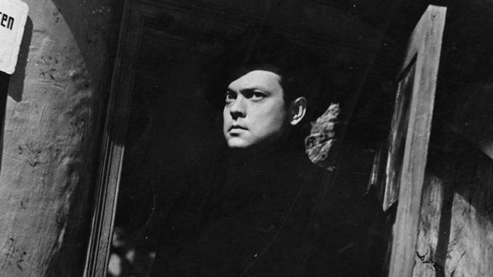 Orson Welles at a canted angle in The Third Man