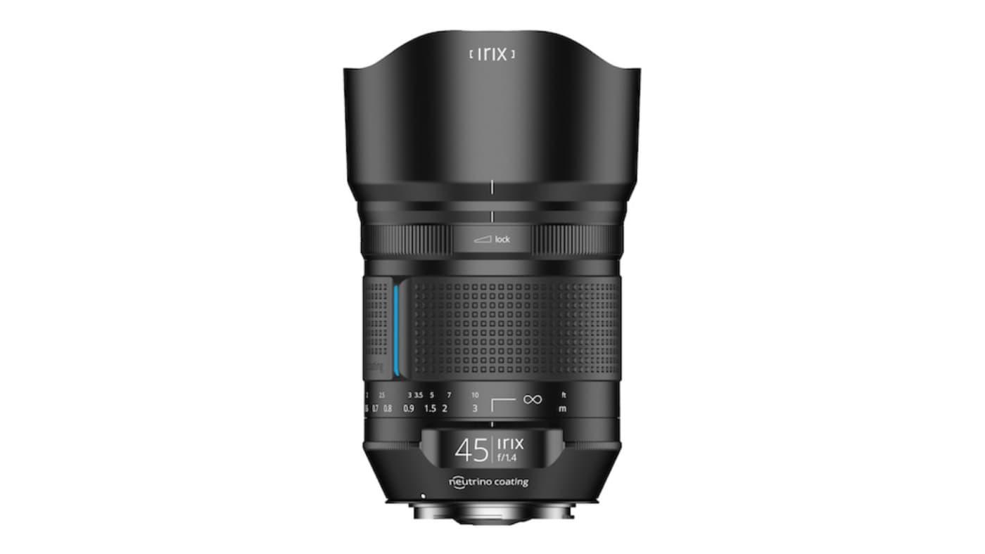 Irix 45mm f/1.4 front shot