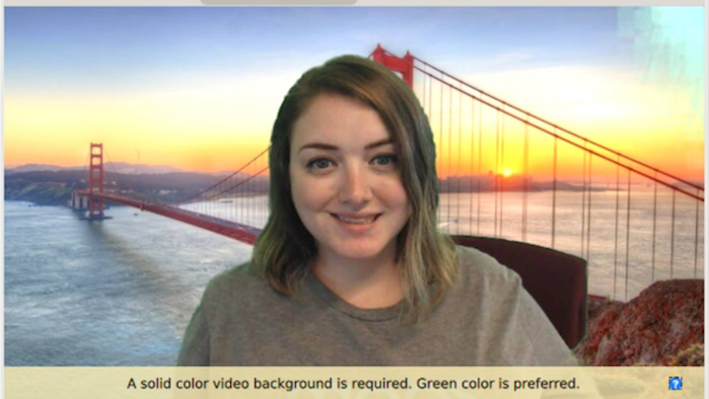 Zoom features a built-in green screen tool