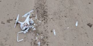 34-year-old Travis Duane Winters was arrested for shooting down a drone