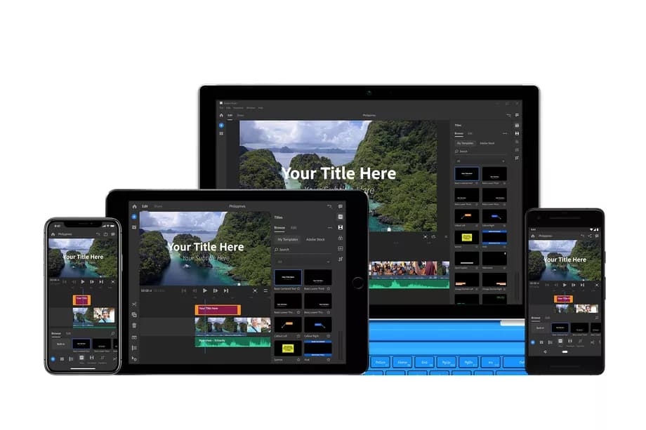 Adobe Premiere Rush on different devices