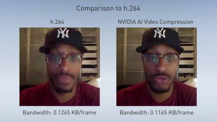 NVIDIA has developed a AI that will lower video call bandwidth