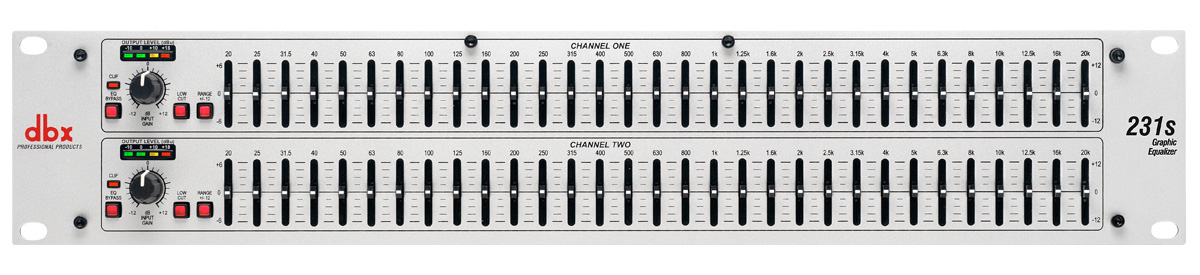The dbx 231s Graphic EQ. Easy to use and adjustable.