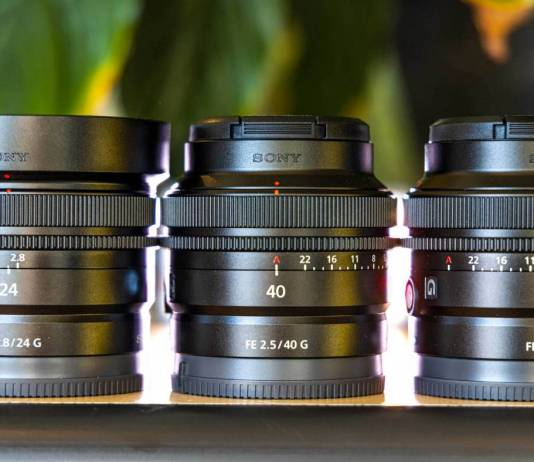 Three new Sony prime lenses