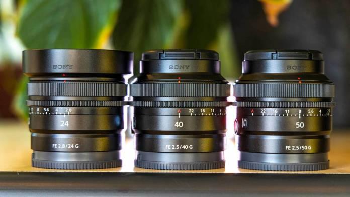 Three new Sony prime lenses