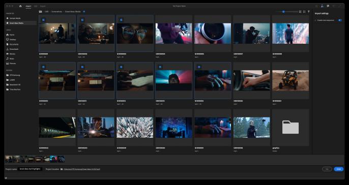Adobe Premiere Pro Input