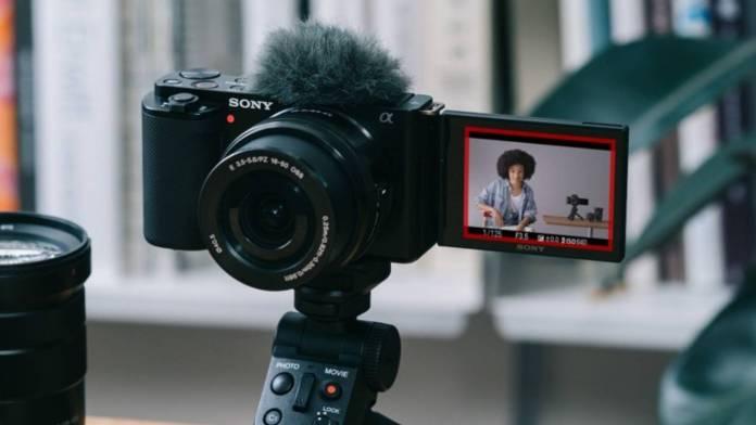 Sony ZV-E10 in use