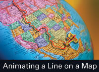 How to Use Adobe After Effects & Photoshop to Create the Line-Map Animation Effect