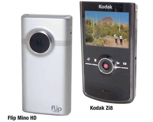 Pure Digital Flip Mino HD and Eastman Kodak Zi8 Camcorders Review