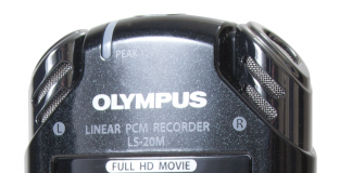 Photo of the Olympus LS-20M Audio/Video Recorder