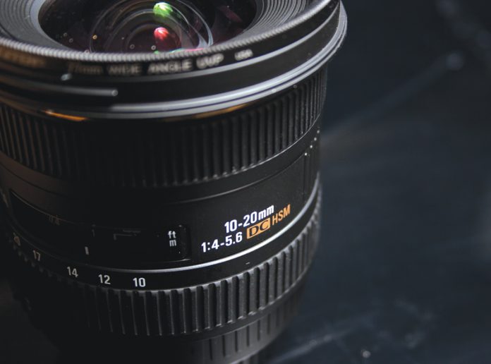 Close up of the numbers on a lens