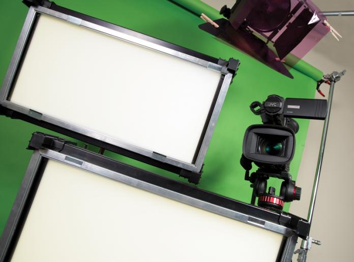 LED Lights, Camcorder, Green Screen