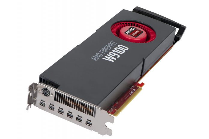 Photo of the AMD W9100 video card