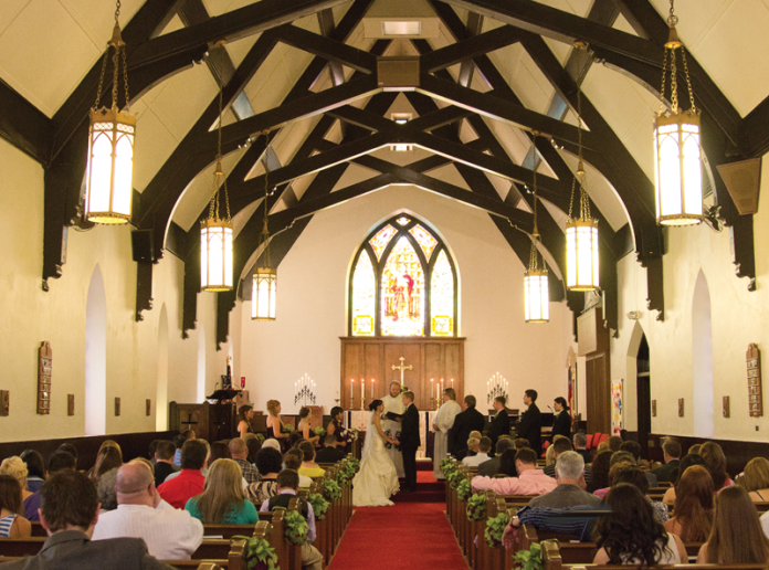 A wedding in a church