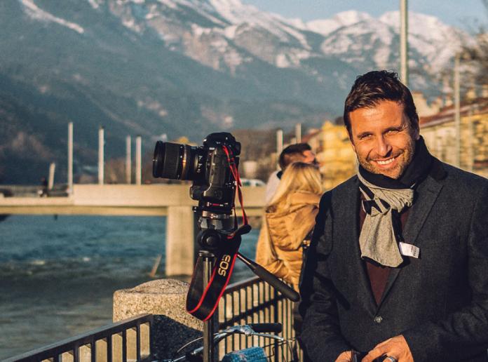 Photo of Philip Boom on location in Innsbruck, Austria. Photo courtesy of philipbloom.net