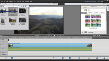 Adobe Elements 12 timeline with Export window