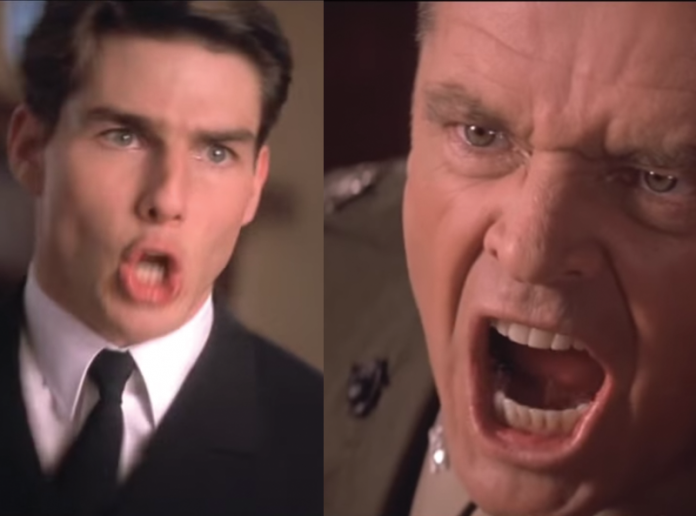"Screen grabs from the last scene of ""A Few Good Men""."