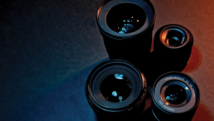 Four Lenses with dramatic lighting