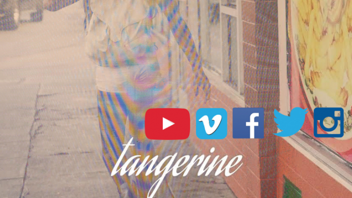 Screen grab of Tangerine with social media icons