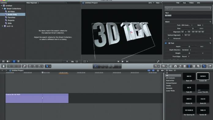 Final Cut Pro X 10.2 Editing Software