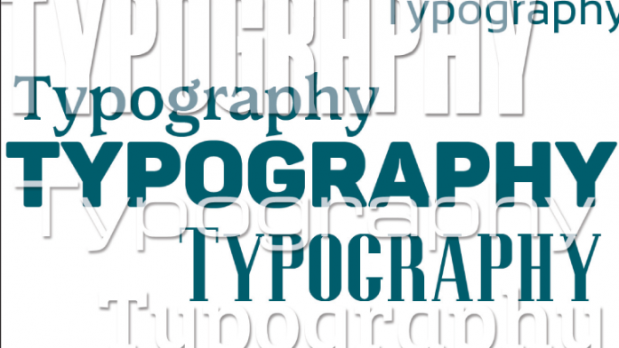 "The word ""typography"" depicted in multiple fonts."