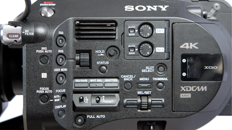 Sony FS7, Left side