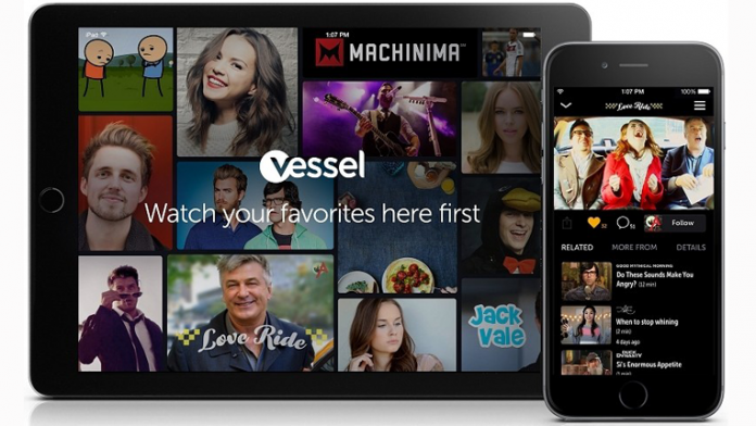 Vessel homepage on tablet and smart phone
