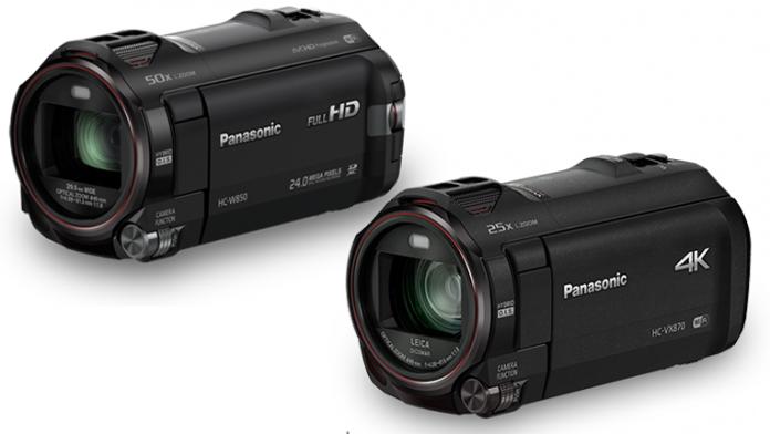Full HD Panasonic HC-W858 and 4k Panasonic HC-VX870