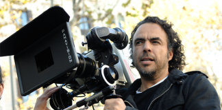 Alejandro Iñárritu with a camera in production