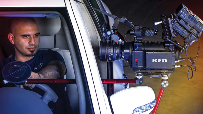 Digital Juice Spyderpod mounted to a car.