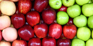 Colorful array of apples