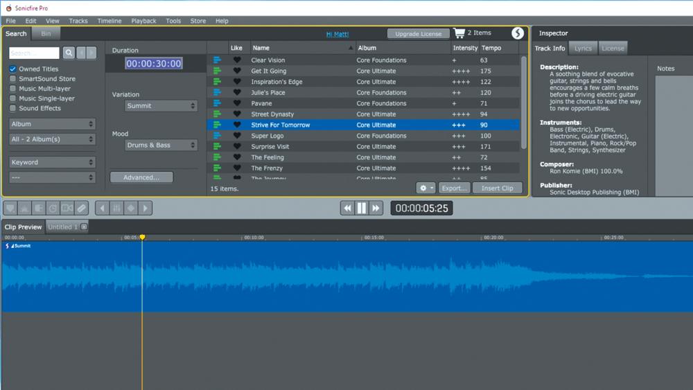 Resultado de imagen para SmartSound SonicFire Pro 6 windows