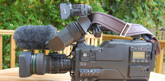 A Look Back at the Slog that was Video Production in the 1980s - Sony Betacam SP BVW-D600P camcorder with C6 Paglight and Rycote Softie, iixorbiusii, https://en.wikipedia.org/wiki/Betacam