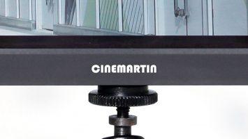 Cinemartin logo on a Cinemartin monitor