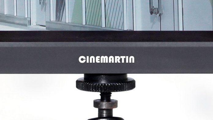 Cinemartin logo on a Cinemartin monitor