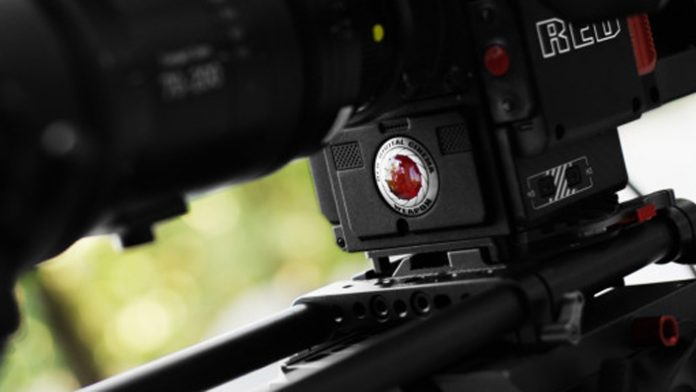 Close up of a RED camera