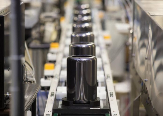 Apple Mac Pro on assembly line and ready to order