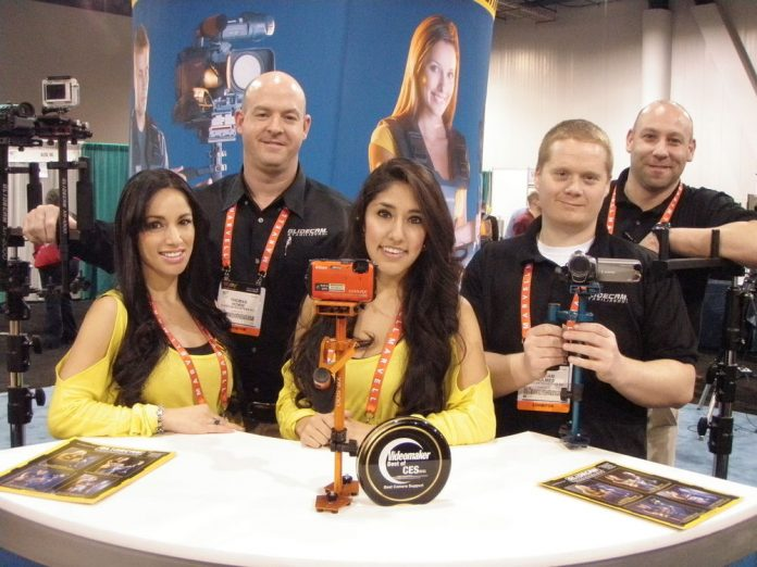 Glidecam team poses with iGlide products