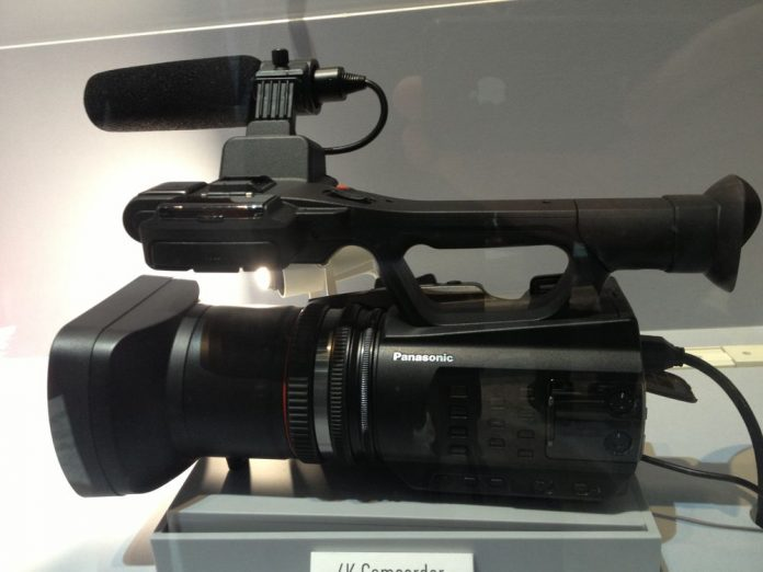 Panasonic camera displayed in a case