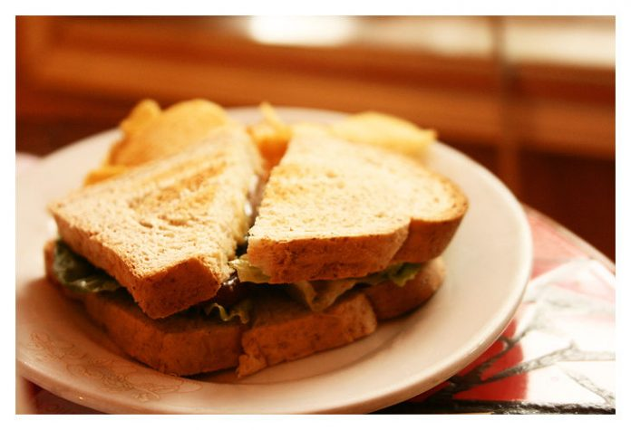 Delicious looking sandwich from Craft Services