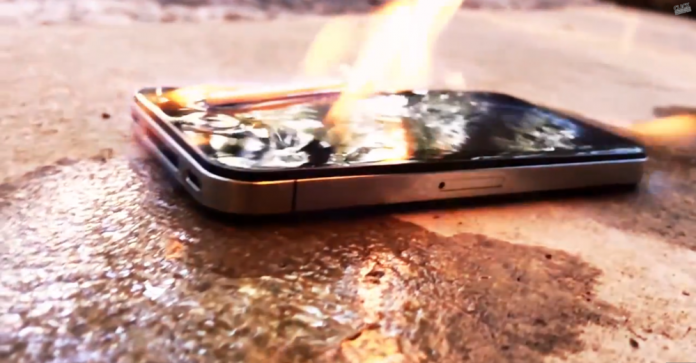 iPhone 5S on Fire