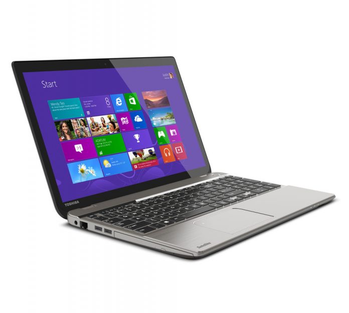 silver laptop with Windows 8