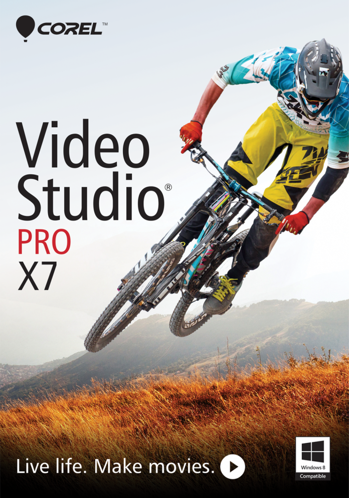 shot of Corel VideoStudio X7 editing software
