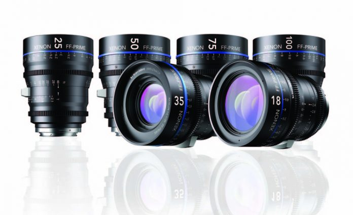 Four standing lenses and two facing out