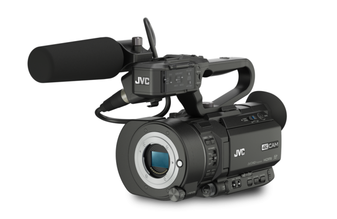 The JVC GY-LS300 Super 35mm UHD 4K Camera with Interchangealbe MFT Mount