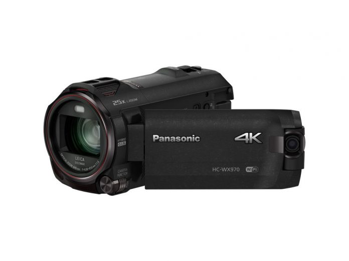 black camcorder with LCD out and camera on LCD edge