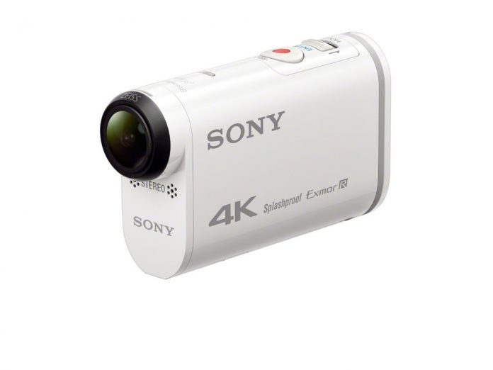 white rounded camera with spherical lens protruding the front